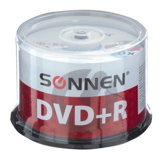 SONNEN / DVD + R Discs (plus) 4.7 Gb 16x Cake Box, SET 50 pcs.