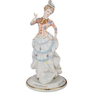 """Porcelain figurine """"Lady with Swan"""""""