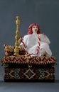 Doll gift. Arab, Smoking nargile. Box. - view 1