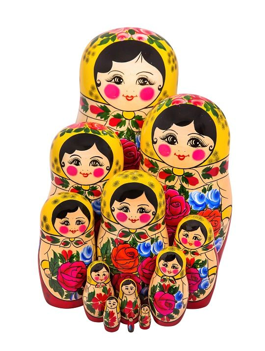 Traditional nesting doll - 12 puppet