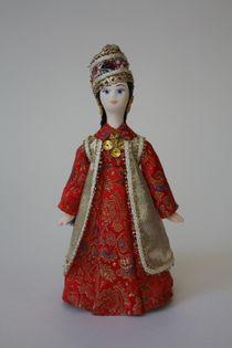 Doll gift. Tatar urban women's costume of the mid-19th century.