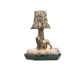 Lamp with tower lion