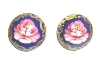 Earrings with hand-painted and varnished diameter 15 mm