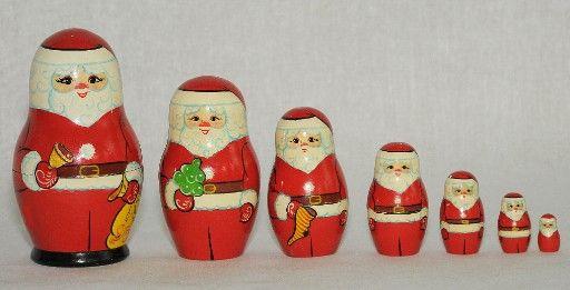 """Vyatka souvenir / Painted matryoshka """"Santa Claus"""", 7 ave."""