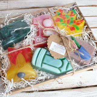 A large set of handmade soaps On September 1