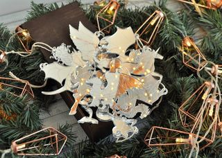 Set mirror Christmas ornaments