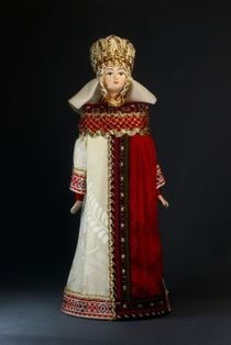 Doll gift porcelain. Princely Byzantine costume. 6-8 centuries.