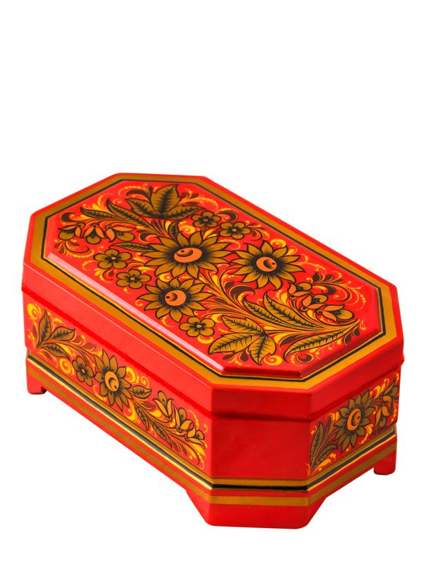 Casket 'Divo' 80 * 110 * 180 with Khokhloma painting
