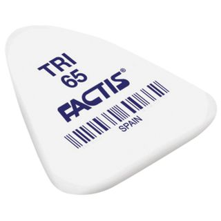 Eraser FACTIS TRI 65 (Spain), 36х33х6 mm, white, triangular, synthetic rubber