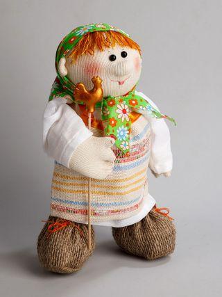 Textile souvenirs, toys, designer objects of linen and cotton.