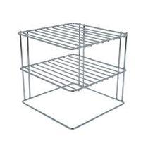 Stainless Steel Shelf Plate Organizer (For Corner)