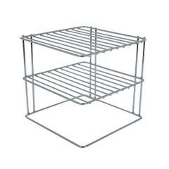 Stainless Steel Shelf Plate Organizer (For Corner)