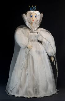 Doll gift porcelain. The snow Queen. Fairy tale character.