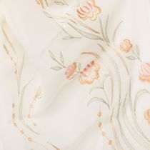 Tippet 'Rose petals' beige with silk embroidery