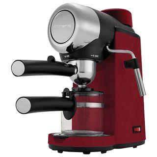 COFFEE maker carob POLARIS PCM 4007A, 800 W, volume 0.2 liters, 4 bar, lighting, removable filter, red