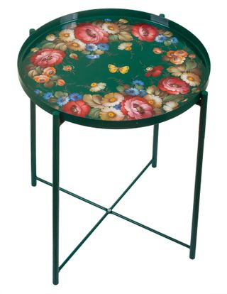 Zhostovo / Serving table with a removable tray, author Solomatina N. 45x53 cm