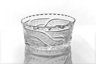 """Crystal vase for the table """"Shvedka"""" colorless"""