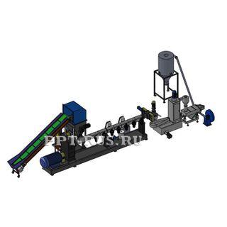 Granulating extruder (granulator)
