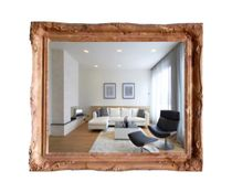 Mirrors of the Palace of carved marble frame Tuscany-vintage Royal cream (beige), 75 X 65 cm
