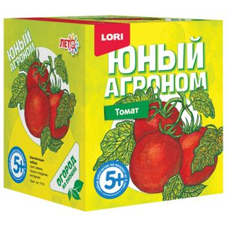 Kit for growing plants the YOUNG AGRONOMIST Tomato, pot, soil, seeds, LORI