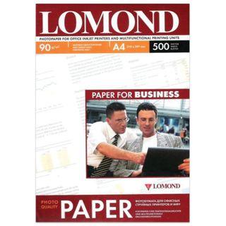 Photo paper for inkjet printers A4, 90 g/m2, 500 sheets, single-sided matte LOMOND