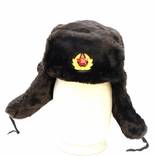 Matryoshka factory / Black earflaps with cockade