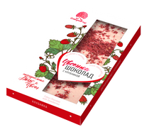 Color chocolate with strawberries 100 g