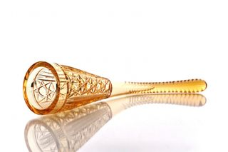"""Crystal goblet """"Horn"""" amber small"""