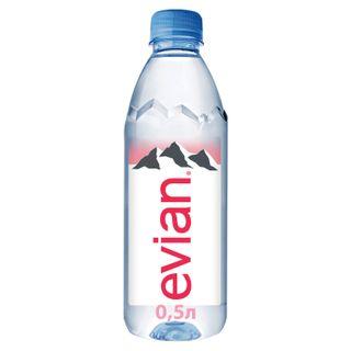 Still mineral water EVIAN (Evian), 0.5 l, plastic bottle