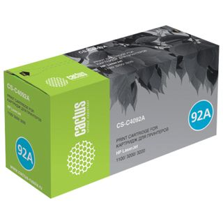 Toner cartridge CACTUS (CS-C4092A) for HP LaserJet 1100 / 1100A / 3200, yield 2500 pages