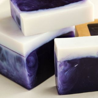 Blackcurrant-Almond whetstone 500g - handmade soap