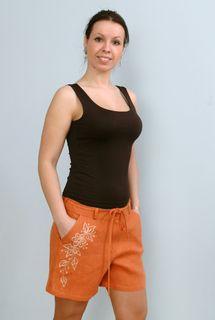 Shorts womens linen 9-57