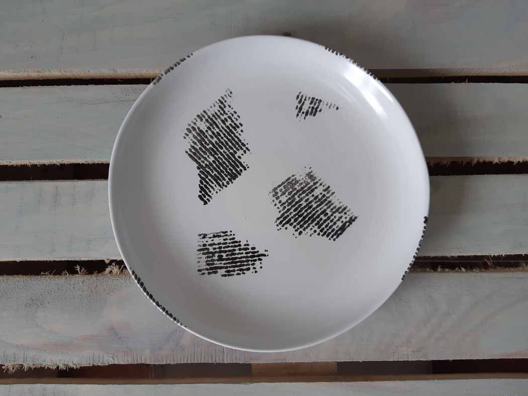 "Horex / Plate ""Gazzetta Bianco"" organic media 6 pcs."