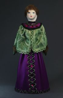Doll gift. The boyar's daughter in festive winter clothes (styling). Late 19th - early 20th century. Center. Russia