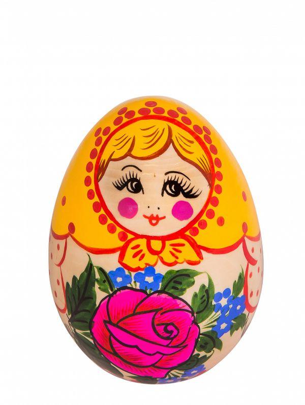 Toy wooden 'Egg matryoshka'
