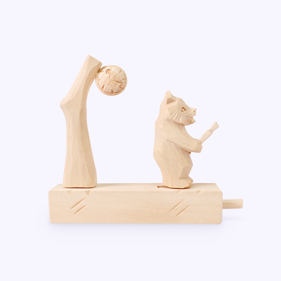 "Bogorodskaya toy / Wooden souvenir ""Expectation"""