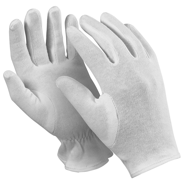 "MANIPULA / Cotton gloves ""Atom"", SET of 12 pairs, size 8 M, white"