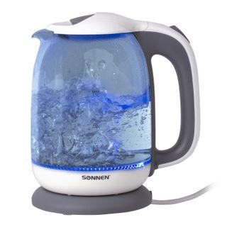 TEApot SONNEN KT-1792, 1.7 litres, 2200 w, closed heating element, glass, white, lighting