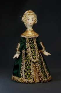 Doll gift porcelain. Lady-in-waiting.18th century. Europe.