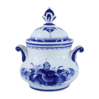 The pot N3 from a set TRIO 2nd grade, Gzhel Porcelain factory