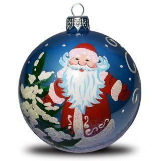 Christmas ball Santa Claus with Christmas tree