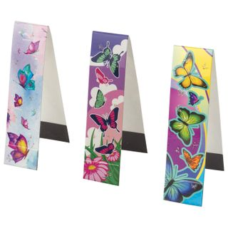 Bookmark with magnet BUTTERFLY, set of 6 PCs, sequins, 25x196 mm, INLANDIA