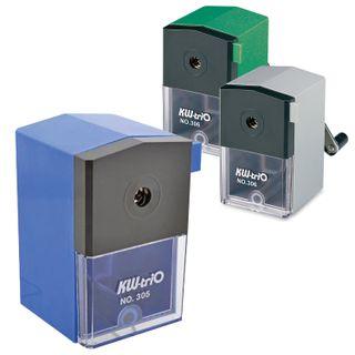 Mechanical pencil sharpener KW-trio, metal mechanism, plastic case, assorted (blue, green, gray)