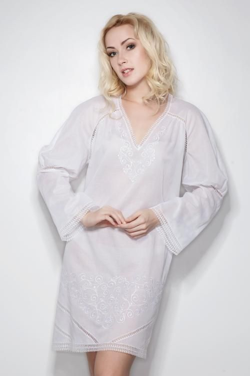 "Chemise nightwear women's ""Sweet fantasy"", straight silhouette, Raglan sleeve"