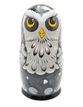 Owl - Russian doll booklet, 5 dolls - author's gray - вид 1