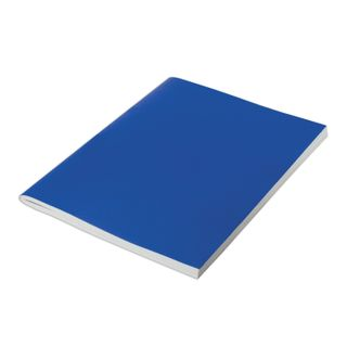 The notebook is bumvinil, A4, 96 sheets, staple, offset No2 ECONOM, cage, STAFF, BLUE