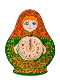 Panel carved with a clock 'Matryoshka'