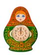 Carved panel with a clock 'Matryoshka' - view 1