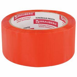 Packing adhesive tape, 48 mm х 66 m, ORANGE, thickness 45 microns, BRAUBERG