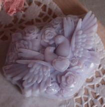 Lilac doves - handmade olive soap